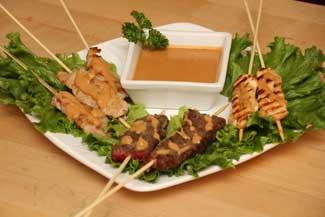 Pork or Chicken Satay