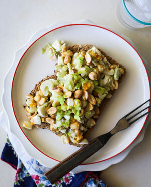 Roasted Peanut Egg Salad