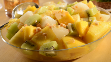 Tropical Fruit Salad with Ginger & Peanuts