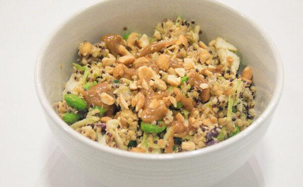 Peanut Butter Quinoa Kale Bowl