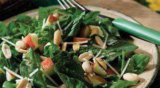 Spinach Salad with Roasted Peanuts