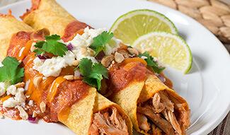 Peanut Butter Chicken Enchiladas