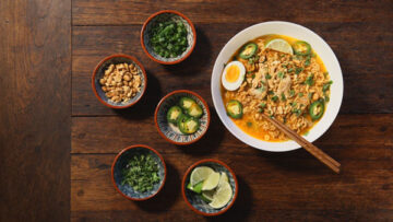 Instant Pot Chicken and Ramen with Peanut Sauce