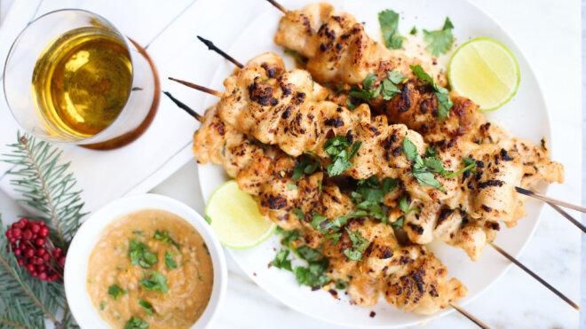 Thai Chicken & Pork Skewers