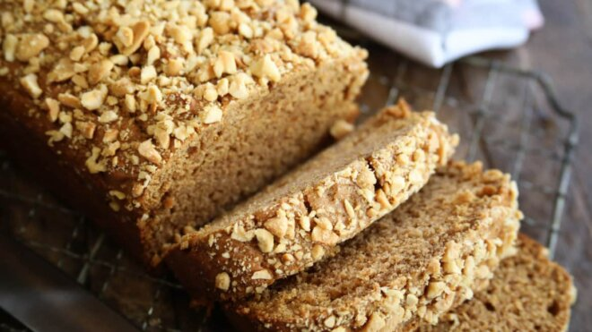 Peanut Butter Sweet Potato Bread