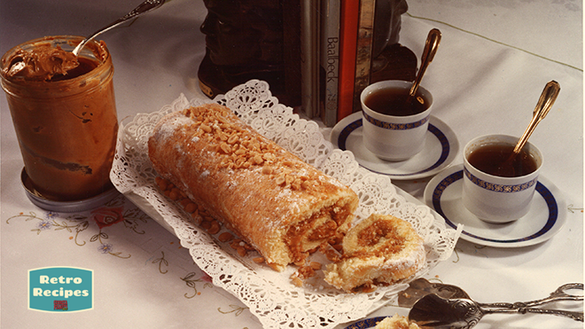 Swiss Roll with Peanut Butter